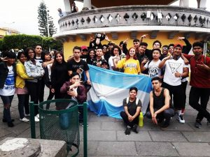 Argentinians and Mexicans dancers in Teziutlan before Electro Dance Camp 2018