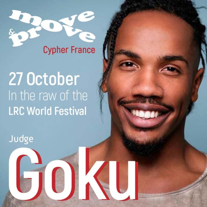 Goku is one fo the judge for Move&Prove France Cypher in Paris