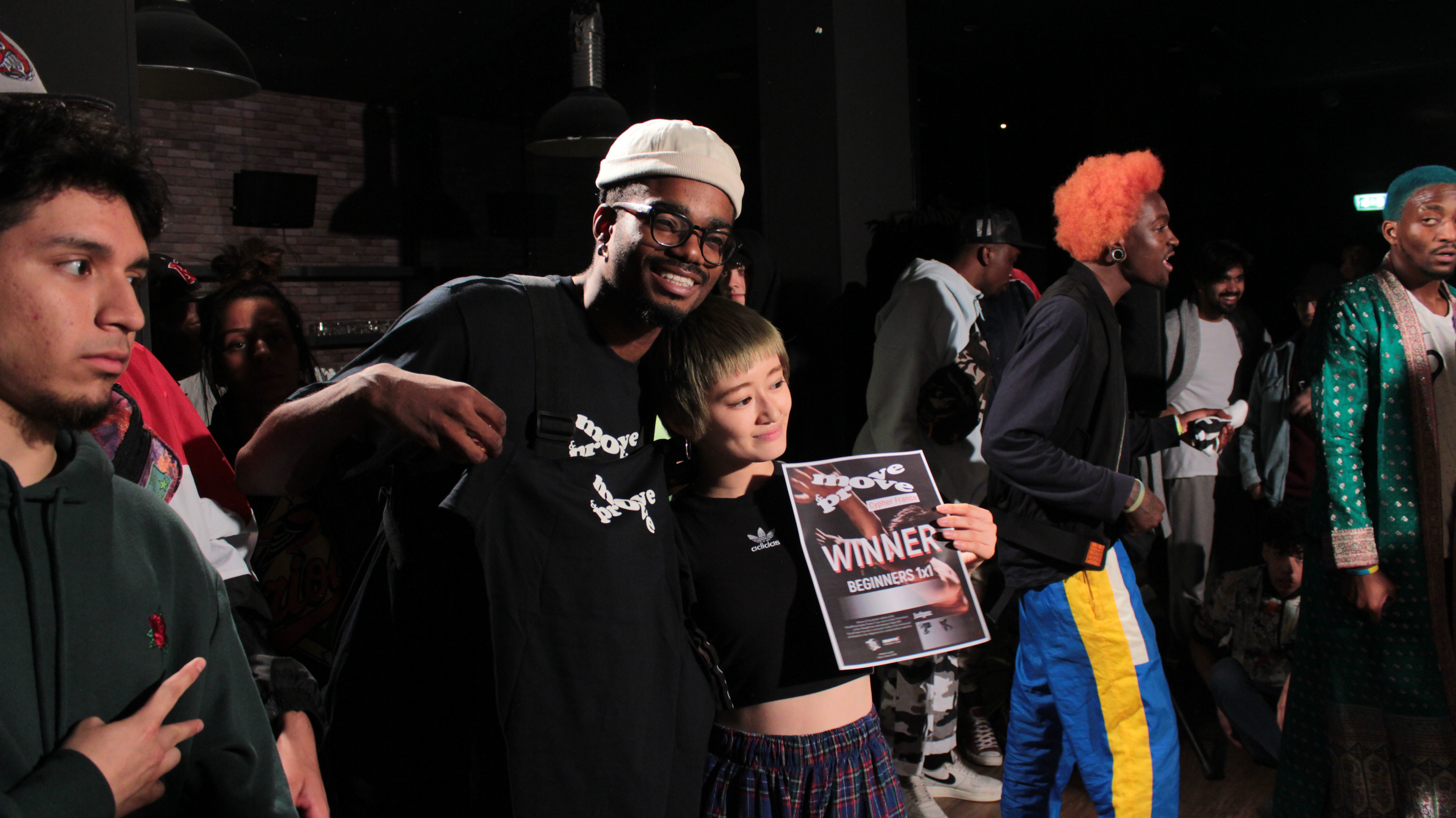 Milliard with Chino, winner of Beginners in Move&Prove France