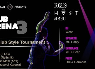 Club Arena 3 in Greece will feature International judges