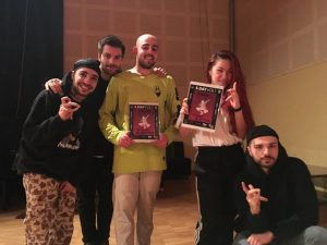 Winners posing with the judges after the 7toSmoke competition in the first Electro Day in Aosta
