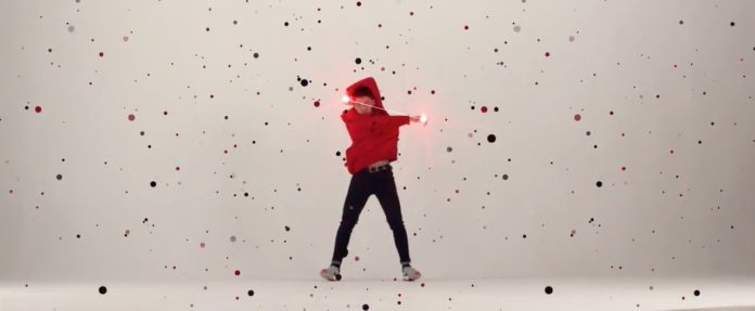 A sequence of Red Epic video clip
