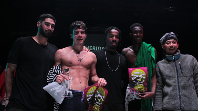 From left to right, Treaxy, Skips, Goku, Taylor and Banzai